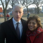 Judi with Anderson Cooper